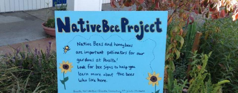 Peralta Bee Garden Sign